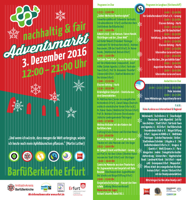 Flyer Adventsmarkt
